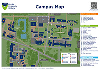 Writtle College Campus Map - see below for downloadable versions