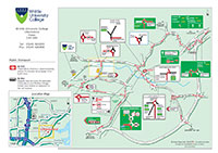Route map to Writtle University College - see below for downloadable versions