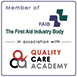 Member of The First Aid Industry Body (FAIB) and Quality Care Academy (QCA)